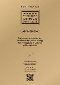 Stipriausi Lietuvoje 2014-2016 LT